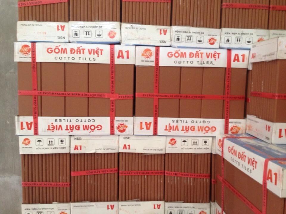 Gốm Cotto 6X24 Đỏ Lợt Đất Việt